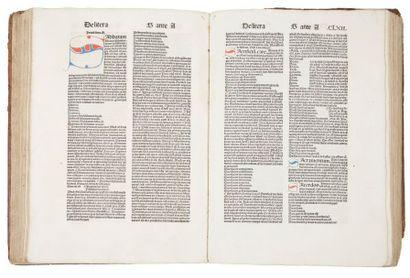 BERSUIRE (Pierre) Repertorium morale. [Nuremberg]:Anton Koberger, 1489. ? 1 volume...