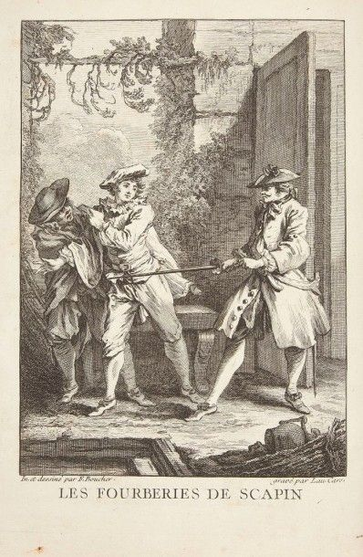 MOLIERE Oeuvres. Nouvelle édition. Paris, 1734. ? 6 volumes in-4, portrait, (3 ff.),...