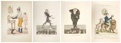 [ALBUM DE CARICATURES]. Collection de 22 grandes caricatures du début du XIXe siècle....