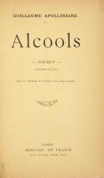 APOLLINAIRE (Guillaume) Alcools. Poèmes (1898-1913). Paris:Mercure de France, 1913....