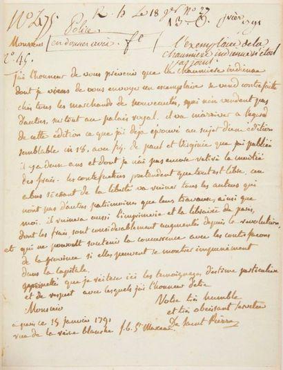 BERNARDIN DE SAINT PIERRE (Henri) Paul et Virginie. La Chaumière indienne. Paris:L....