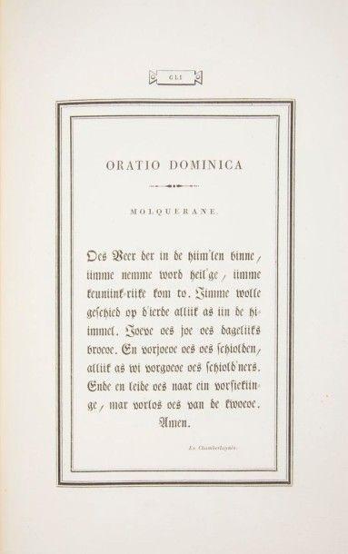 BODONI (Giambattista) Oratio dominica in CLV. linguas versa exoticis characteribus...