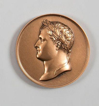 France ANDRIEU (d'après) Baptême du Roi de Rome Médaille en bronze. Retirage du Premier...