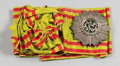 TUNISIE ORDRE DU NICHAN IFTIKHAR, fondé en 1835. Ensemble de grand croix comprenant:...
