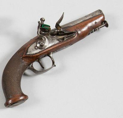 Petit pistolet à silex de voyage ou d'officier....