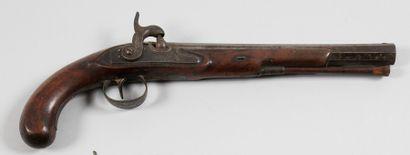 Pistolet britannique à silex transformé à...
