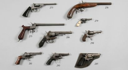 Revolver à broche six coups calibre 7 mm...