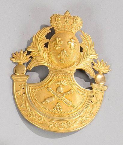 Plaque de shako d'officier d'État major de...