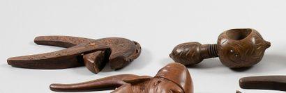 Casse-noisette et casse-noix, à vis En bois...