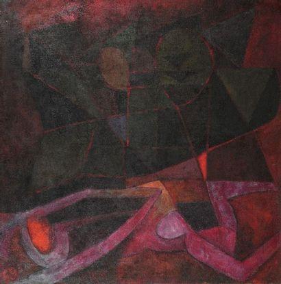Pierre JOURDA (1931-2007) La Torture, 1959 Huile sur toile. Datée en bas à gauche....