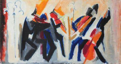 Pierre JOURDA (1931-2007) Quatuor, 1960 Huile sur toile. Datée en bas à gauche. Porte...
