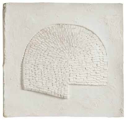 Arthur Luiz PIZA [brésilien] (né en 1928) Composition, vers 1970 Relief en plâtre....