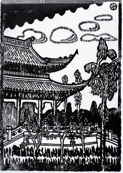 Chine Croquis de Chine. Bois de Binet. Albert...