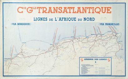 Afrique du nord. Compagnie Générale Transatlantique...