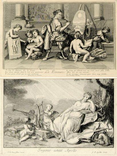 Divers, XVIIe et XVIIIe s. [Dessin, peinture,...
