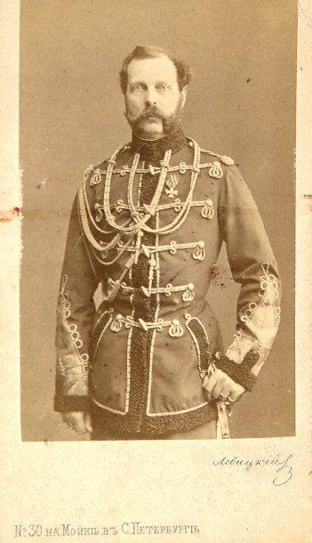 Le Tsar Alexandre II, c. 1865. Tirage albuminé...