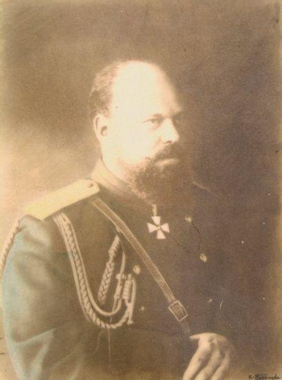 Le Tsar Alexandre III, c. 1890. Tirage au...