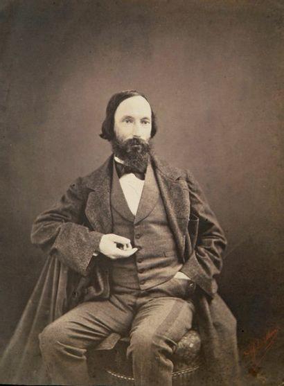 Auguste Vacquerie par P. J. Delbarre, c. 1860