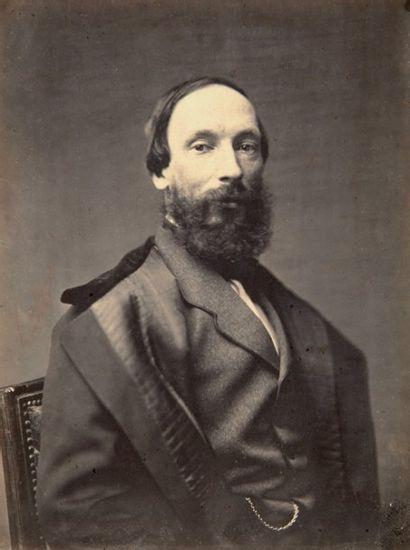 Pierre Petit (1832-1909) Auguste Vacquerie, c. 1860