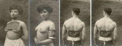 Électrogène, c. 1900. 12 tirages argentiques...