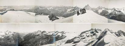 Panorama des Alpes depuis le sommet du Breithorn...