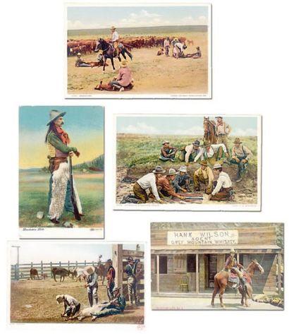 Lot de cinq cartes postales anciennes 1900-1920....