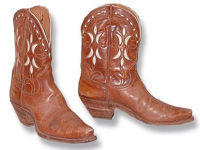Belle paire de bottes Nocona Boots. 1940-1960....