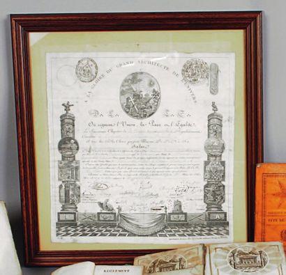Diplôme de Souverain Prince Rose-Croix, 4e....