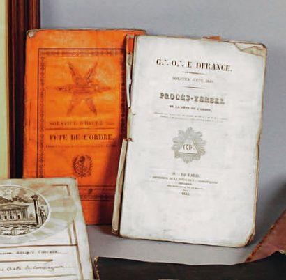 Procès verbaux du Godf, années 1828 (54 pp.),...