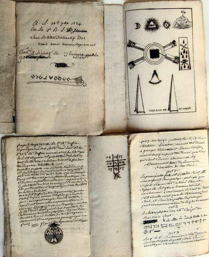 Important ensemble de 24 rituels manuscrits...