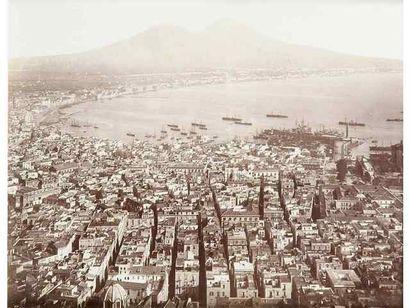 Italie, 19e siècle. Naples. Pompéi. Vésuve....