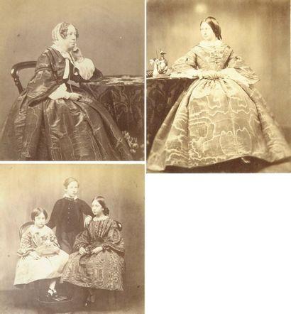 Angleterre, c. 1860. Portraits. Trois épreuves...