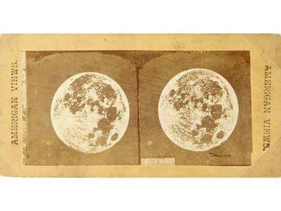 Pleine lune en stéréoscopie, c. 1880-1900....