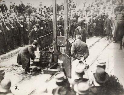 Exécution à la guillotine. Valence, 1912....