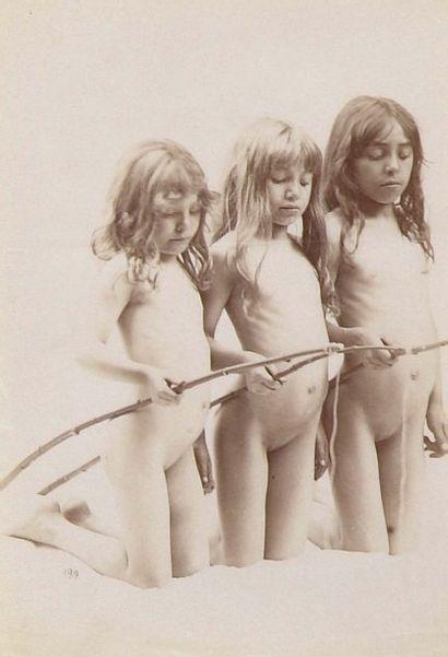 Trois jeunes filles à la pêche, c. 1880....