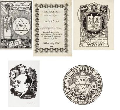 EX LIBRIS - 5 pièces : Rabbin B. Oppenheim;...