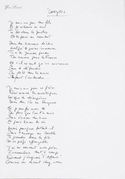 AFFAIRE DREYFUS - DUTEIL Yves - Compositeur et interprète contemporain. Dreyfus....