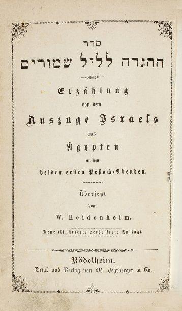 HAGADAH - Rödelheim. Lehrberger, s.d., un...