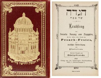 HAGADAH - Vienne, Schlesinger, 1935, un vol....