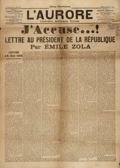 AFFAIRE DREYFUS - ZOLA Émile - J'Accuse in...