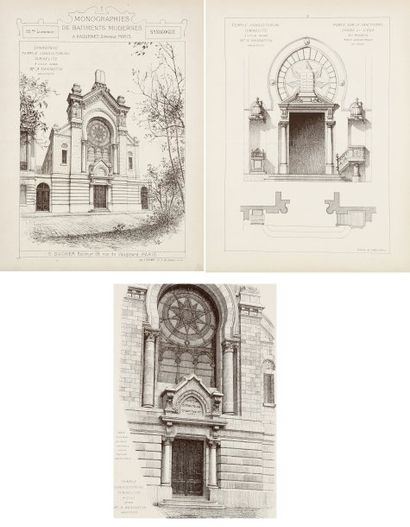 LILLE - HANNOTIN architecte. Synagogue. Temple...