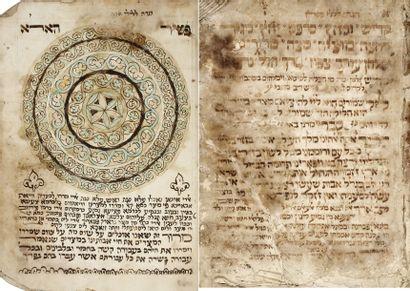 MANUSCRIT - Hagadah. Manuscrit en hébreu...