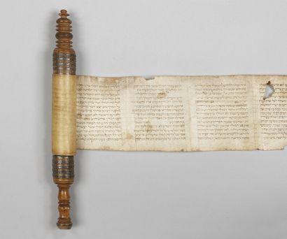 MANUSCRIT - Rouleau d'Esther. Manuscrit en...