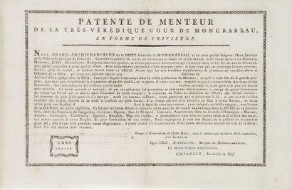 PATENTE DE MENTEUR de Moncrabeau - Pièce...