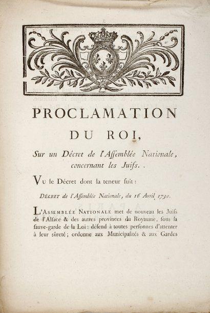 RÉVOLUTION - Proclamation du Roi, sur un...