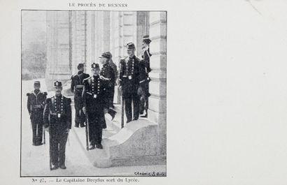 AFFAIRE DREYFUS - Cartes postales - Procès de Rennes (Compagnie Americ), numéros...