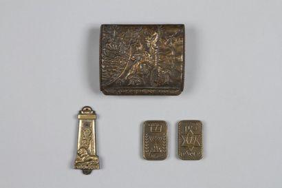 OPPENHEIM - Boîte en bronze, signée, dont...
