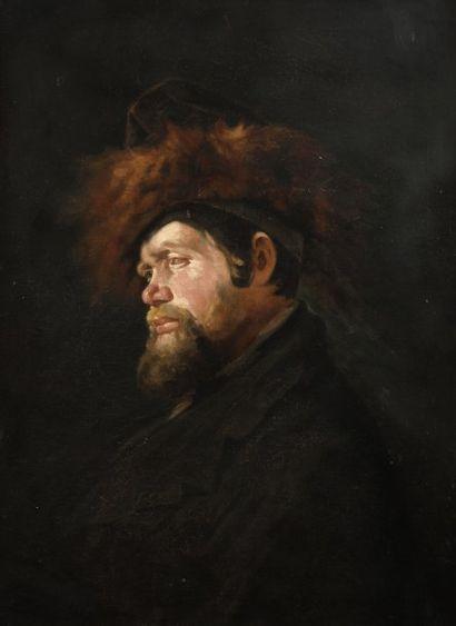 ANONYME Juif de profil portant le strammel...