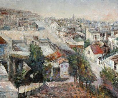 ANONYME Quartier yéménite en Israël Huile...
