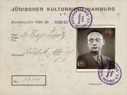 ALLEMAGNE - Jüdischer Kulturbund Hamburg....